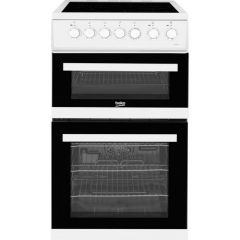 Beko EDVC503W Cooker, Double Oven Electric